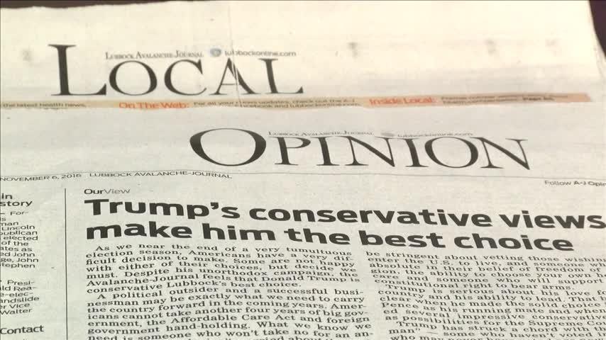 Lubbock Avalanche Journal Endorses Donald Trump_84531482-159532