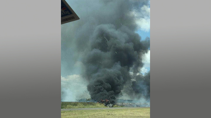 Fiery crash in Scurry County