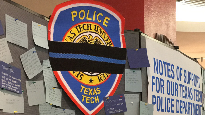 Texas Tech Police Badge, Fallen Officer - 720