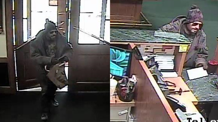 bank robbery suspect bomb threat Happy State Bank 171120 720