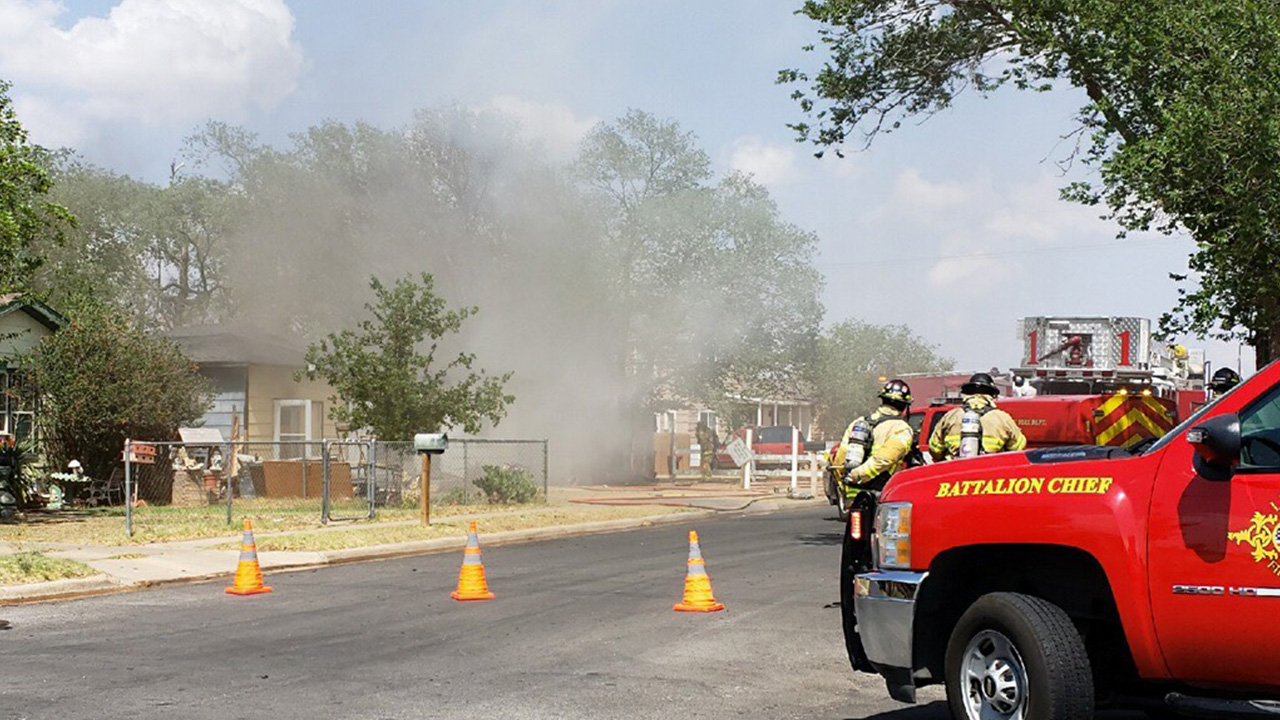 Structure fire 900 block of 41st near I 27