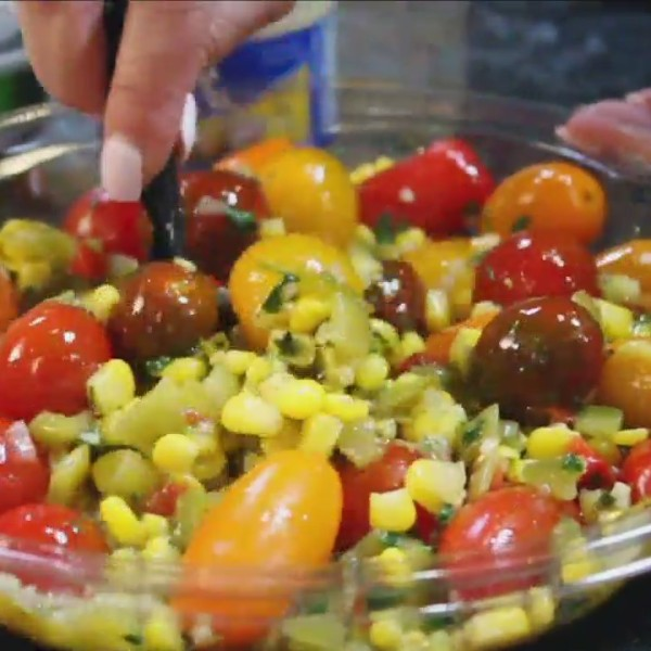 Kiss The Cook: Green Chile, Tomato and Corn Salad