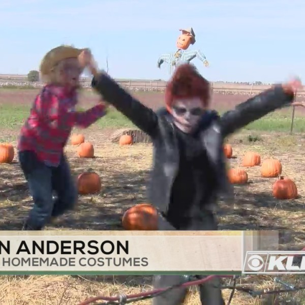 Family making Halloween extra special with homemade costumes