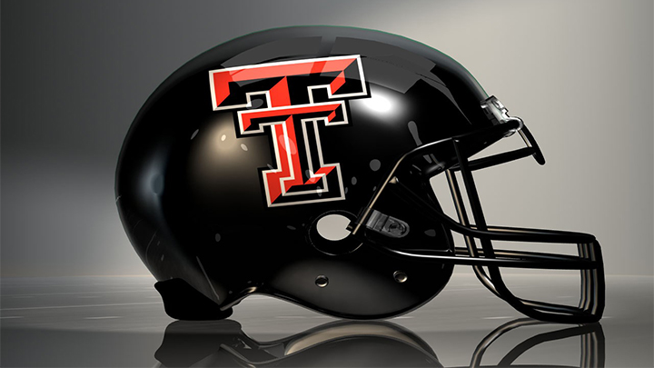 Texas Tech Football, TTU Football Helmet - 720
