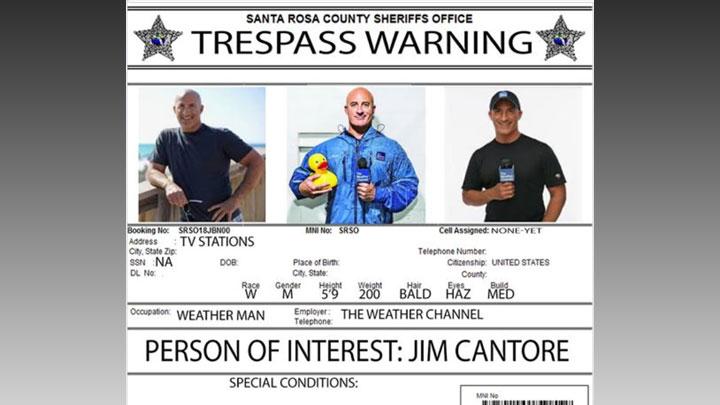 Jim Cantore trespass warning 720