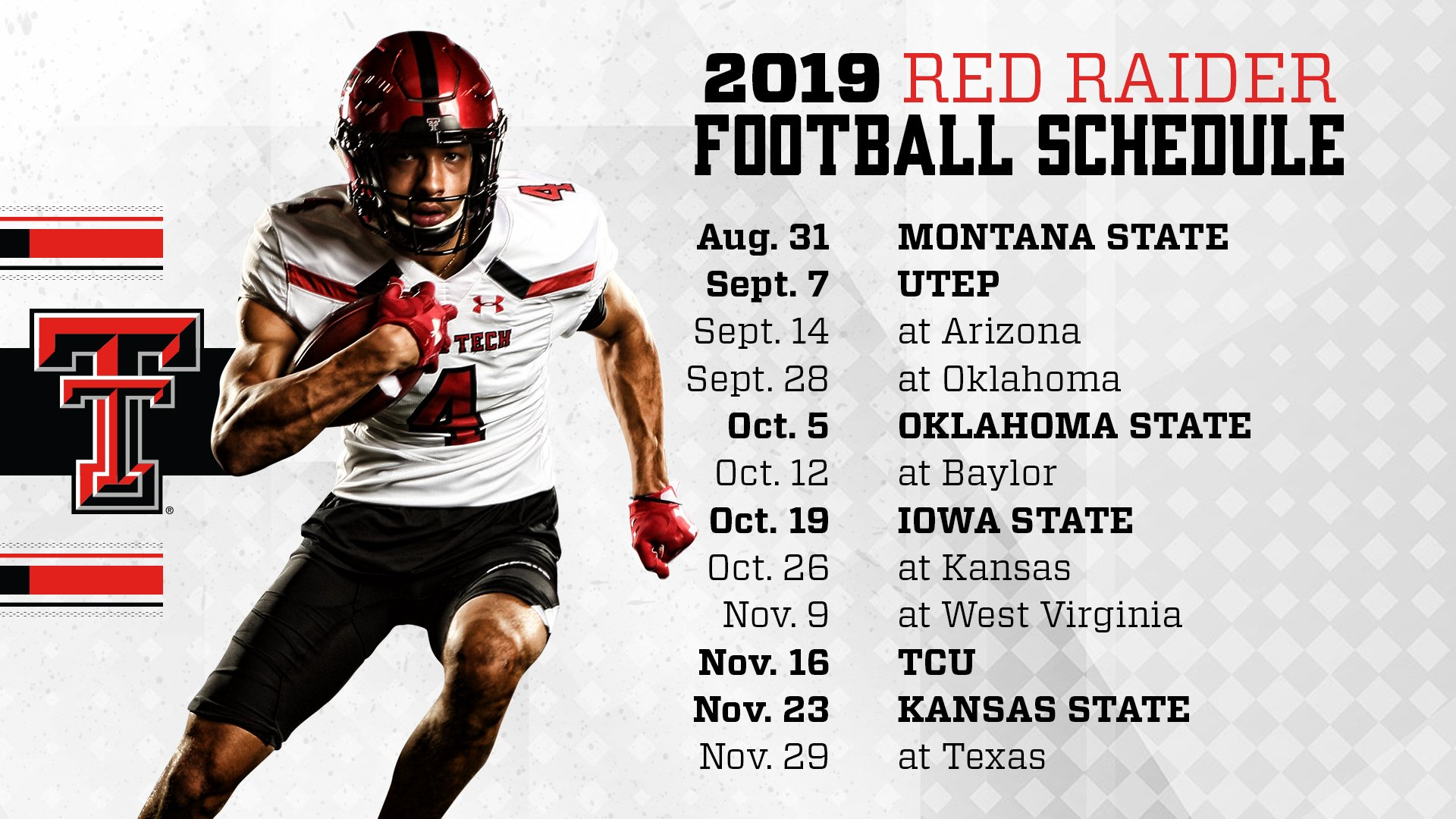 Texas Tech University 2019 Football Schedule