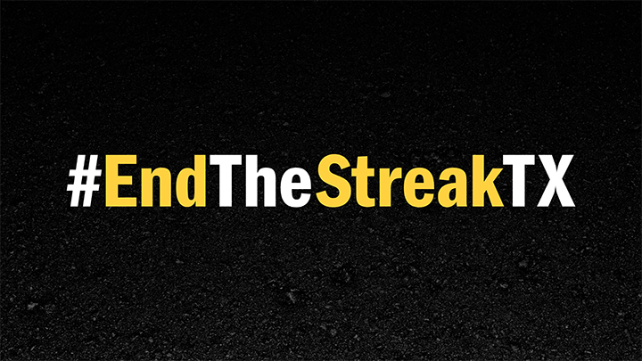 End the Streak Hashtag Sign, TxDOT Campaign - 720
