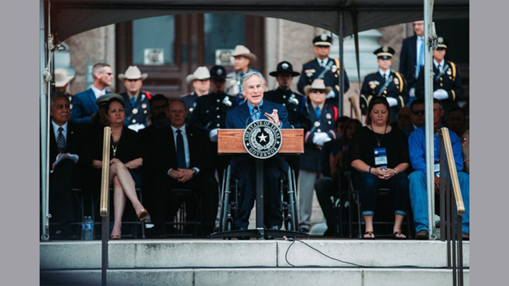 Abbott Honors Texas Peace Officers at Memorial Ceremony (20190 - 720