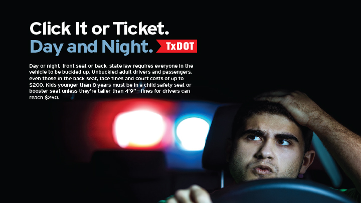 Click It or Ticket Poster, TxDOT (2019) - 720