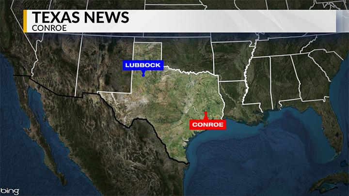 KLBK Conroe, Texas News Locator Map - 720