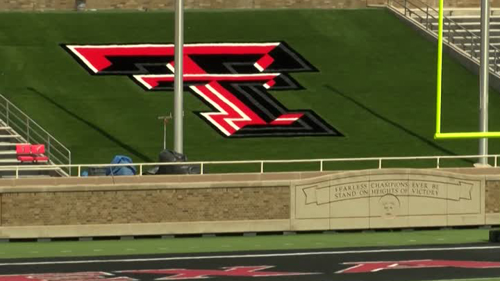 Texas Tech Double T on field