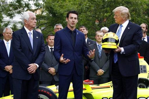 Donald Trump, Roger Penske, Simon Pagenaud