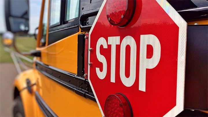 School Bus Safety, School Bus Stop Sign - 720