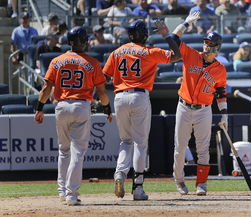 Yordan Alvarez, Yuli Gurriel, Michael Brantley