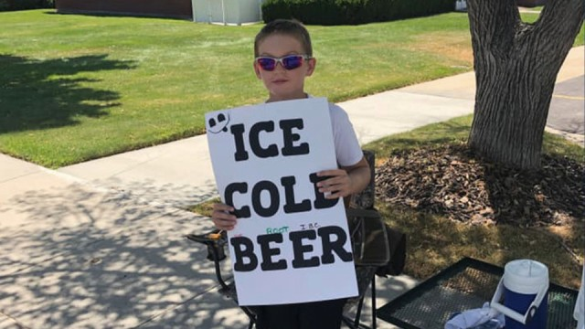 Utah boy selling 'ICE COLD BEER' gets police attention