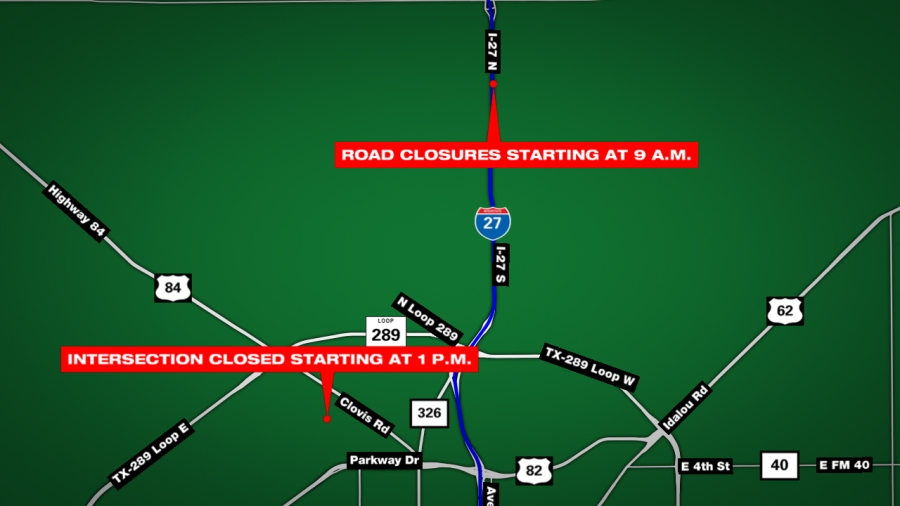 Road closures for Tuesday and Thursday in Lubbock | KLBK | KAMC