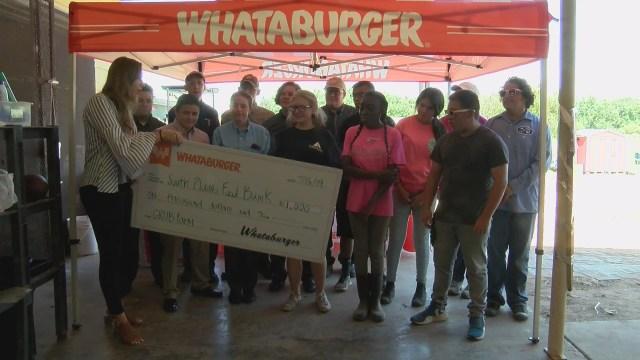 Grub Farm receives $1000 donation from Whataburger