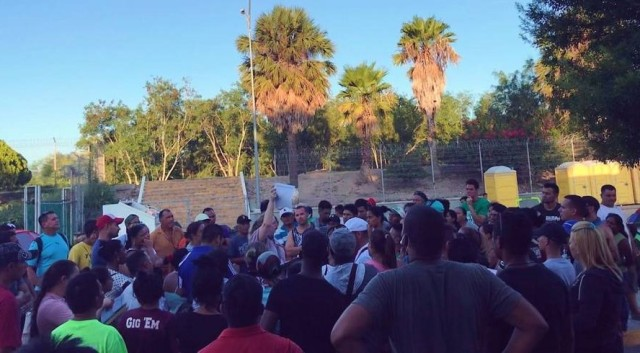 Over 500 migrants swarm Brownsville bridge; congressman fears it could 'turn into chaos'