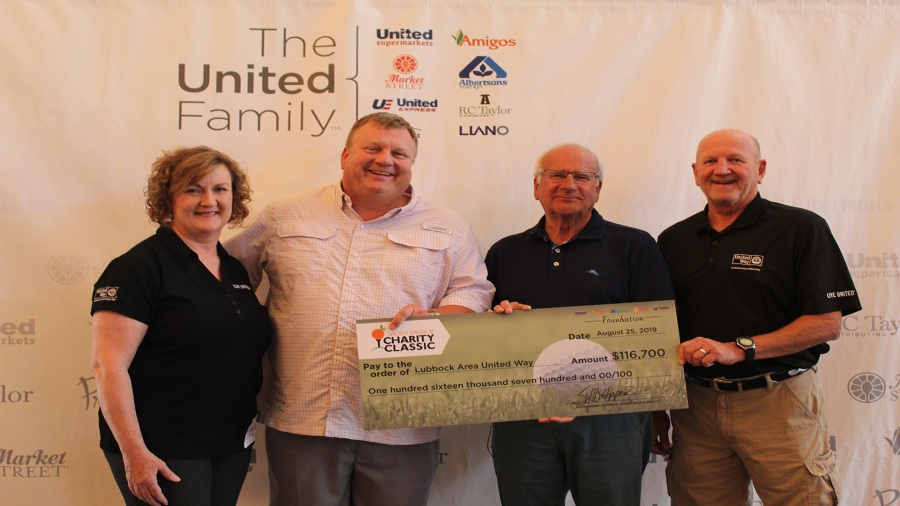 Jacky Pierce Charity Classic check presentation on August 25, 2019 (Photo provided by The United Family)