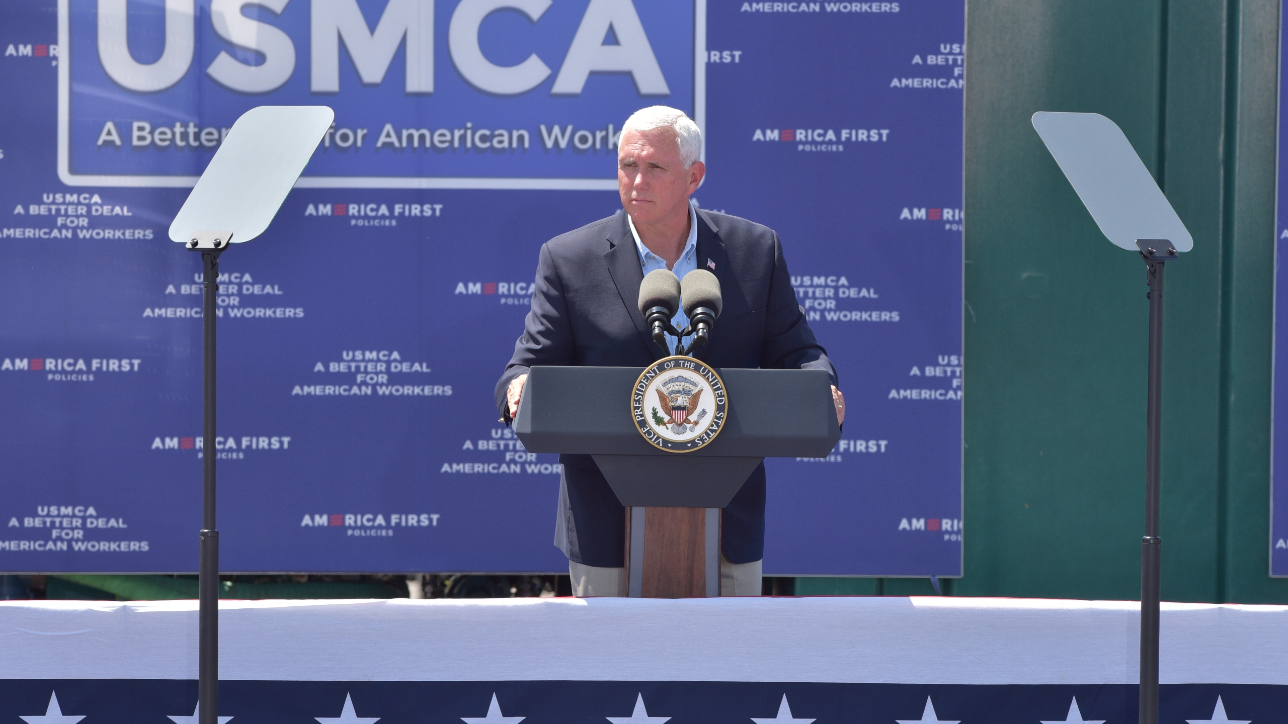 Pence vigorously defends oil and gas in visit to Permian