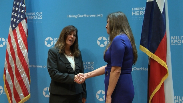 Military spouses get Texas-sized boost from Second Lady Karen Pence