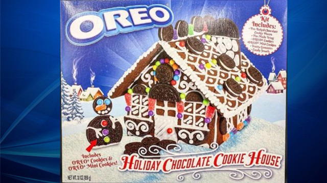Oreo unveils its own version of the gingerbread house just in time for the holidays