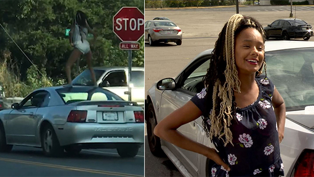 Woman caught twerking on moving Mustang in Antioch charged with disorderly conduct