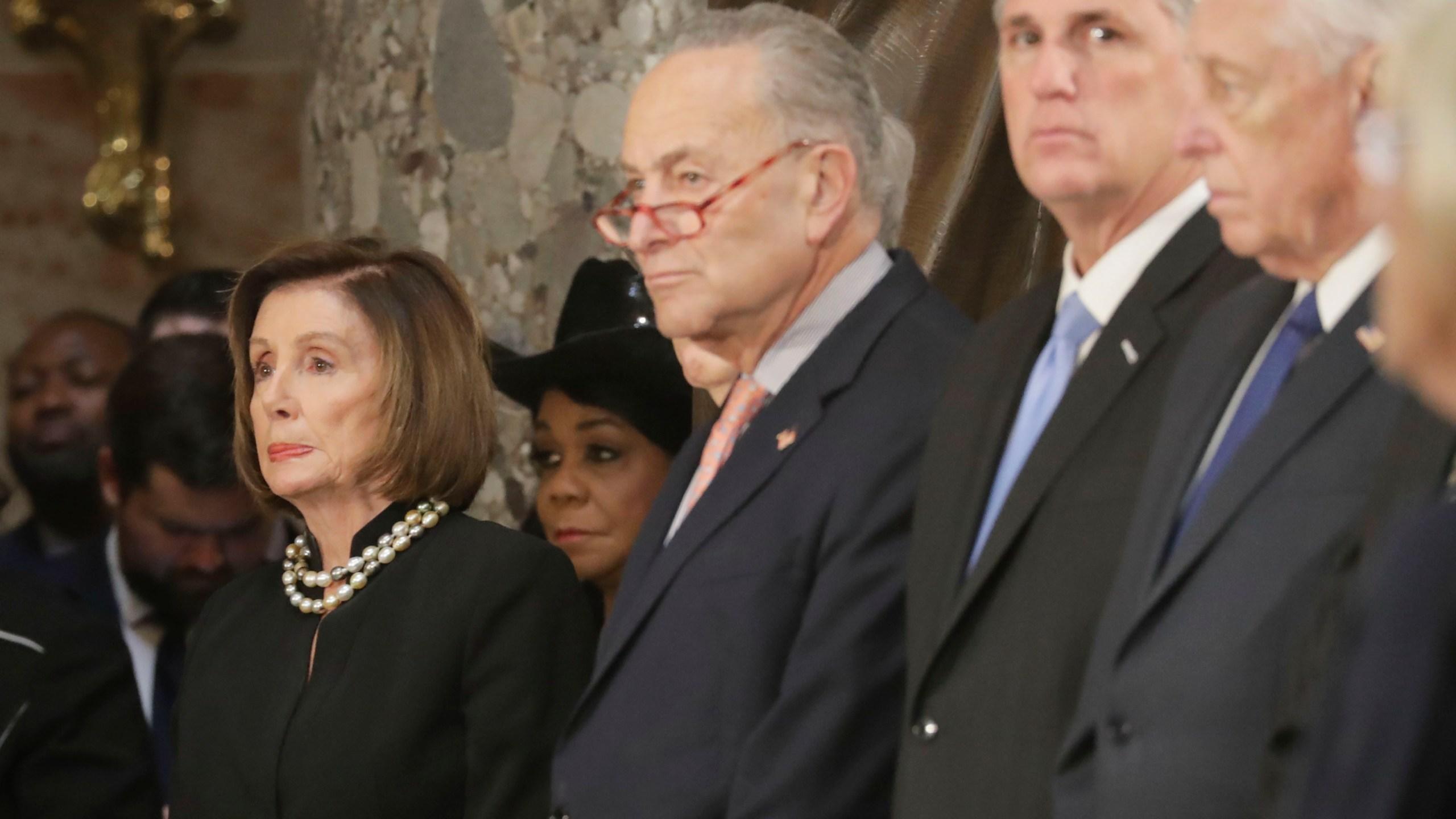 Nancy Pelosi, Chuck Schumer, Kevin McCarthy, Steny Hoyer