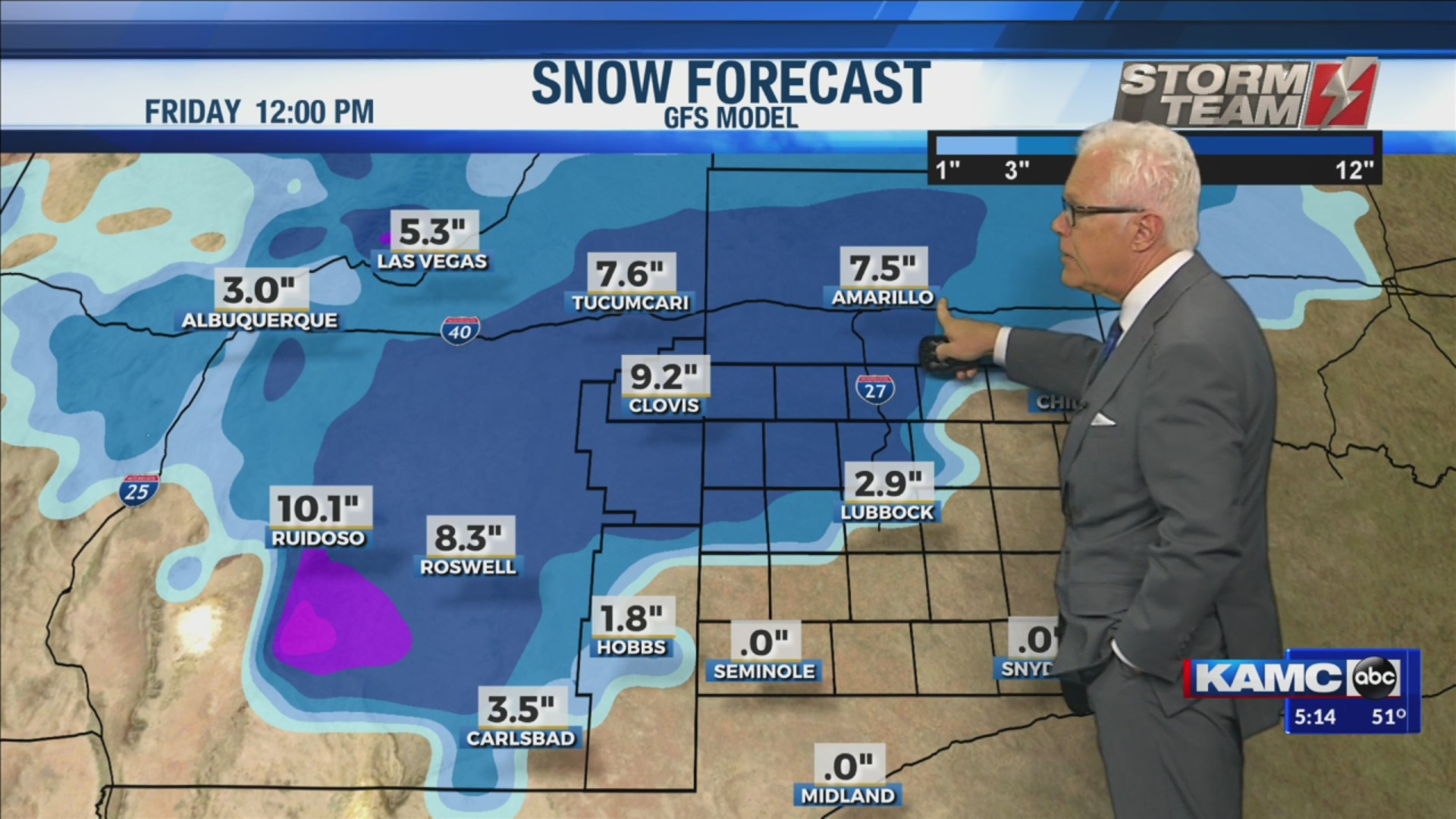 KAMC Weather Webcast with Meteorologist Ron Roberts: November 22nd, 2019