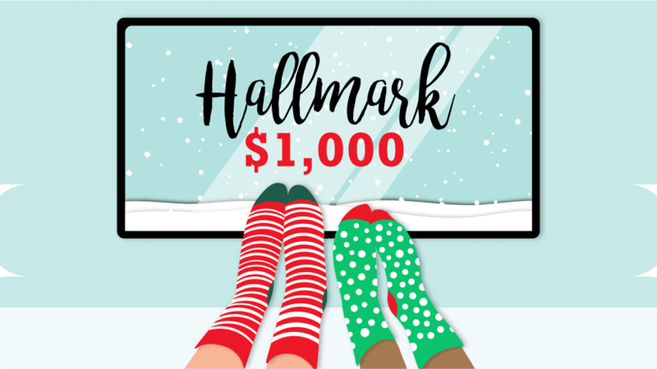 Get paid to watch 24 Hallmark Christmas movies by Christmas Day