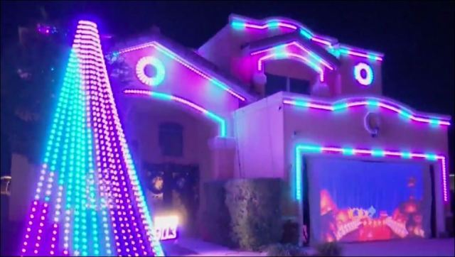 Disney-inspired Christmas lights display in Far East El Paso goes viral