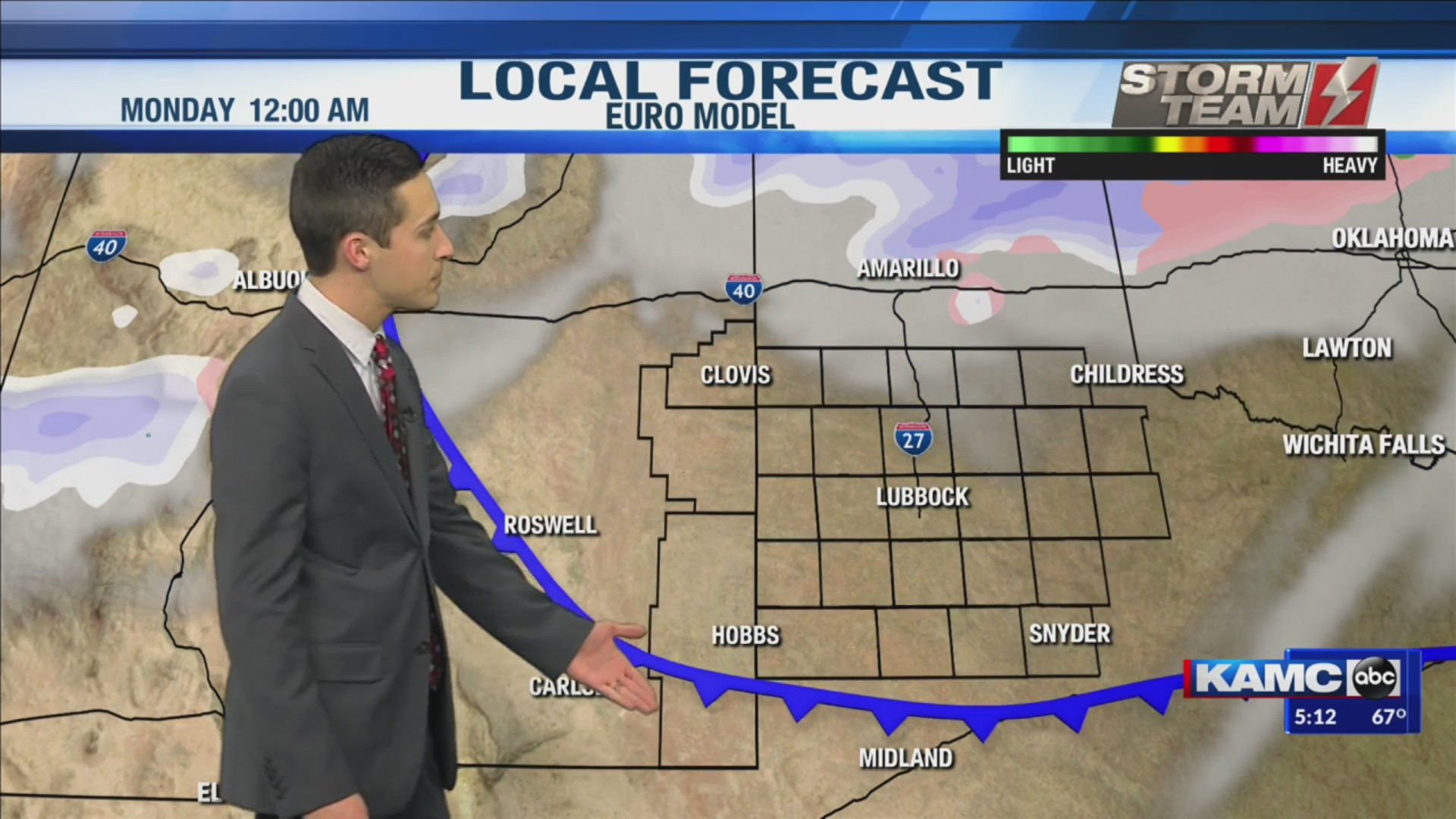 KAMC Weather Webcast with Meteorologist Jacob Riley: December 13th, 2019