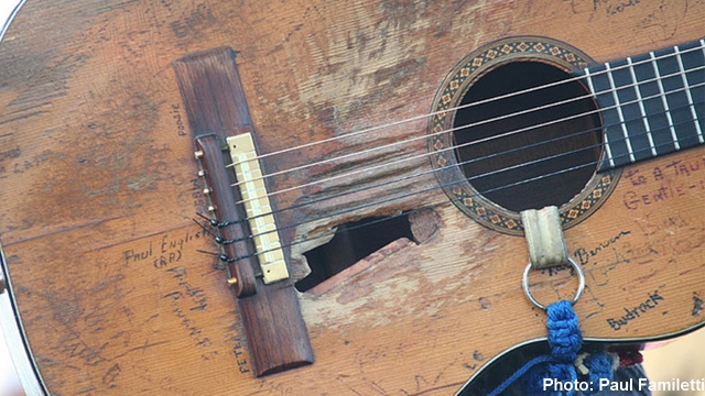 Willie Nelson's guitar 'Trigger,' almost as legendary as the man himself