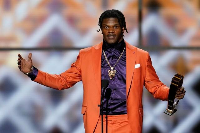 Jackson wins MVP as Ravens take 3 awards; Harbaugh top coach