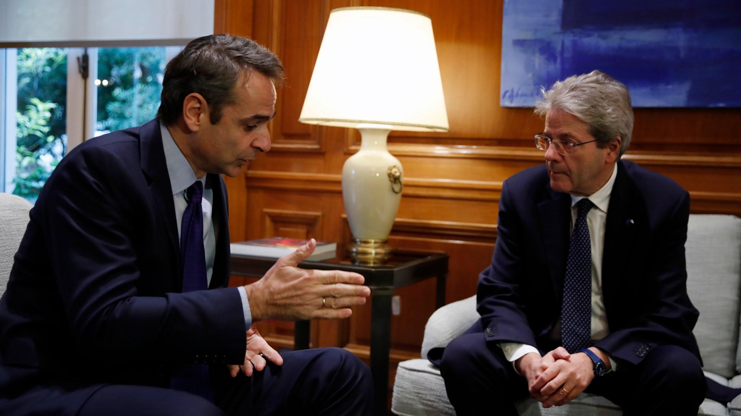 Kyriakos Mitsotakis, Paolo Gentiloni