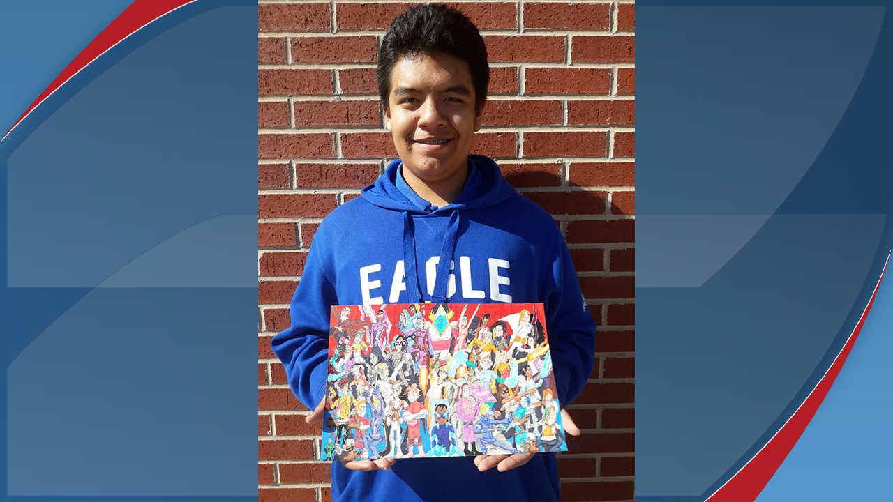 LCS student's artwork to be on display at the state capitol in Austin