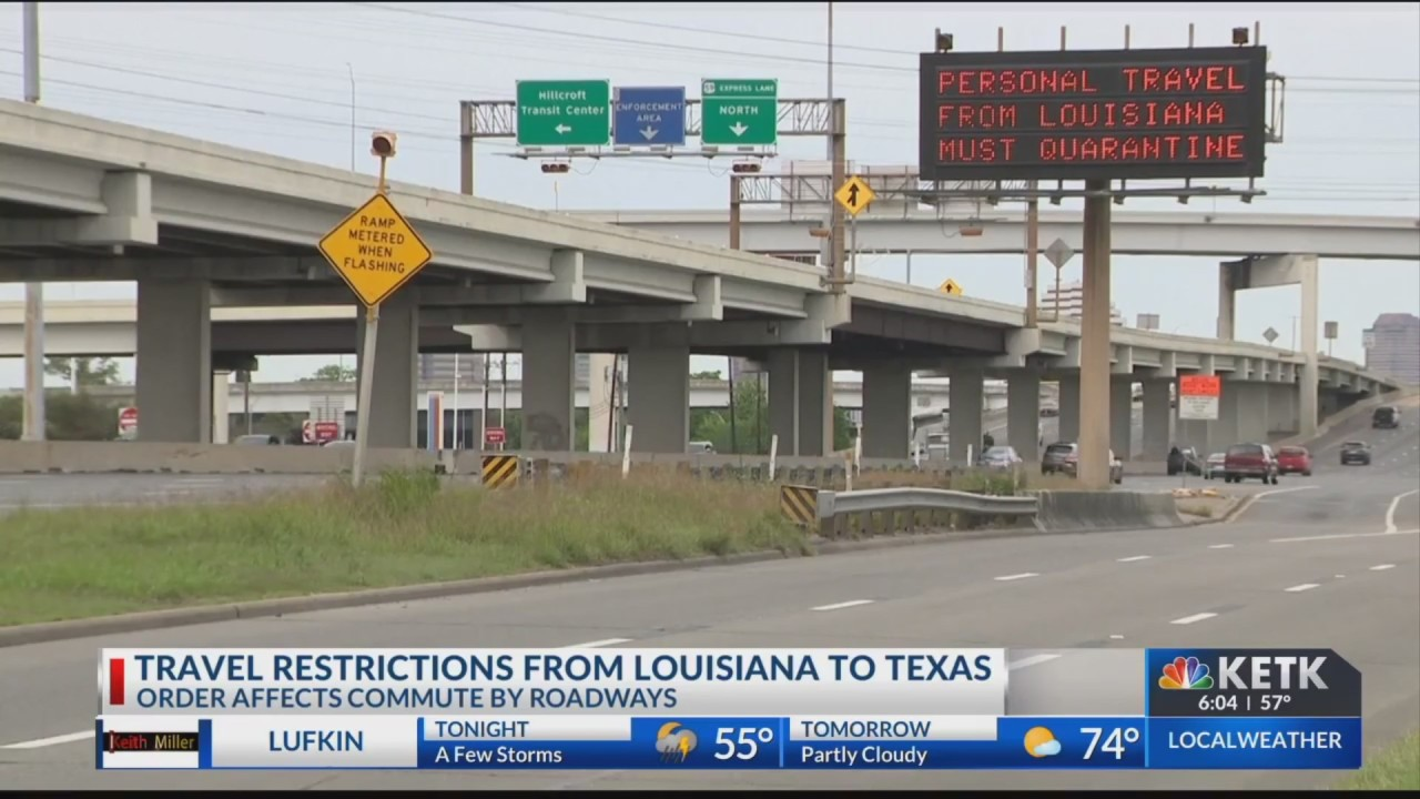 Texas-Louisiana border enforcement in question after Gov. Abbott's order restricts drivers