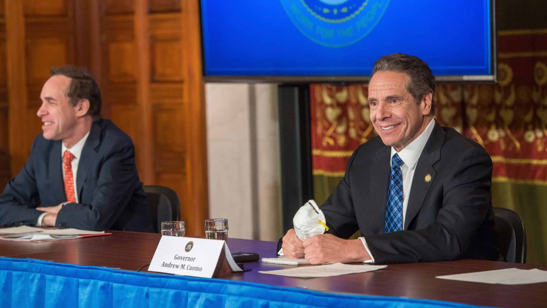 Gift of the Mask: Cuomo lauds retired farmer's gesture ...