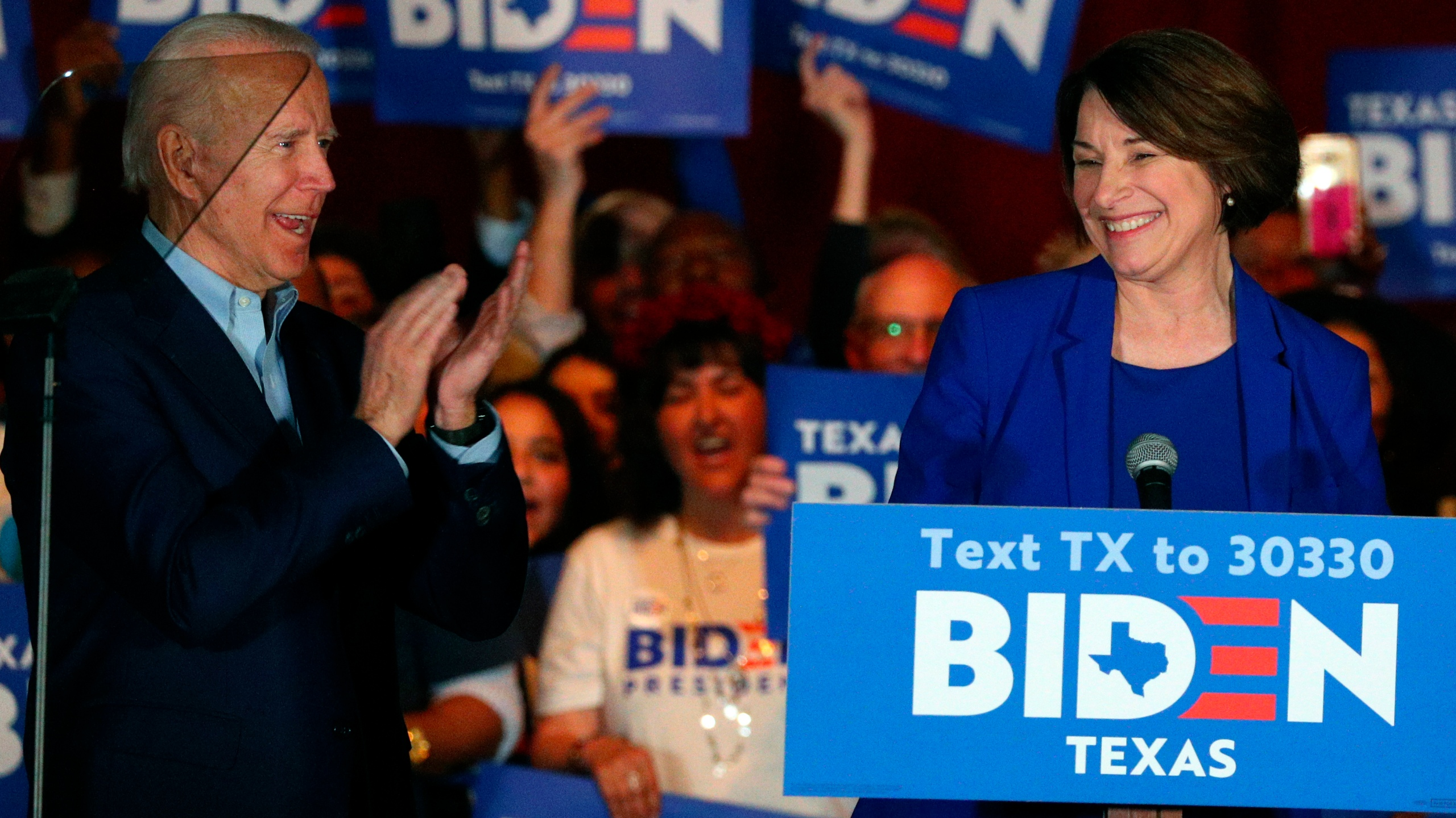 Joe Biden, Amy Klobuchar