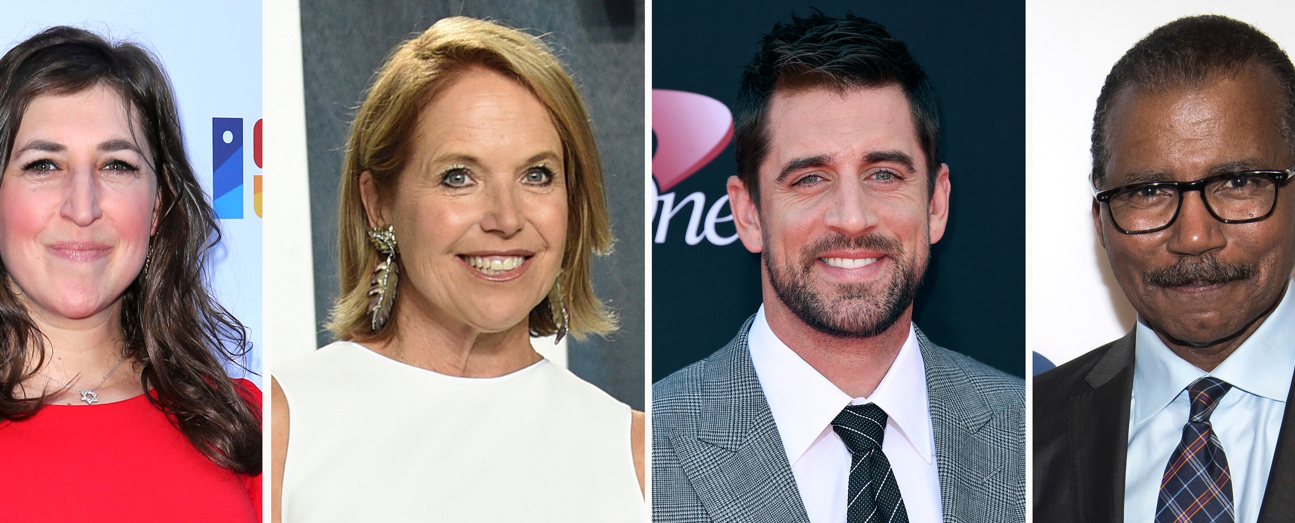 Mayim Bialik, Katie Couric, Aaron Rodgers, Bill Whitaker