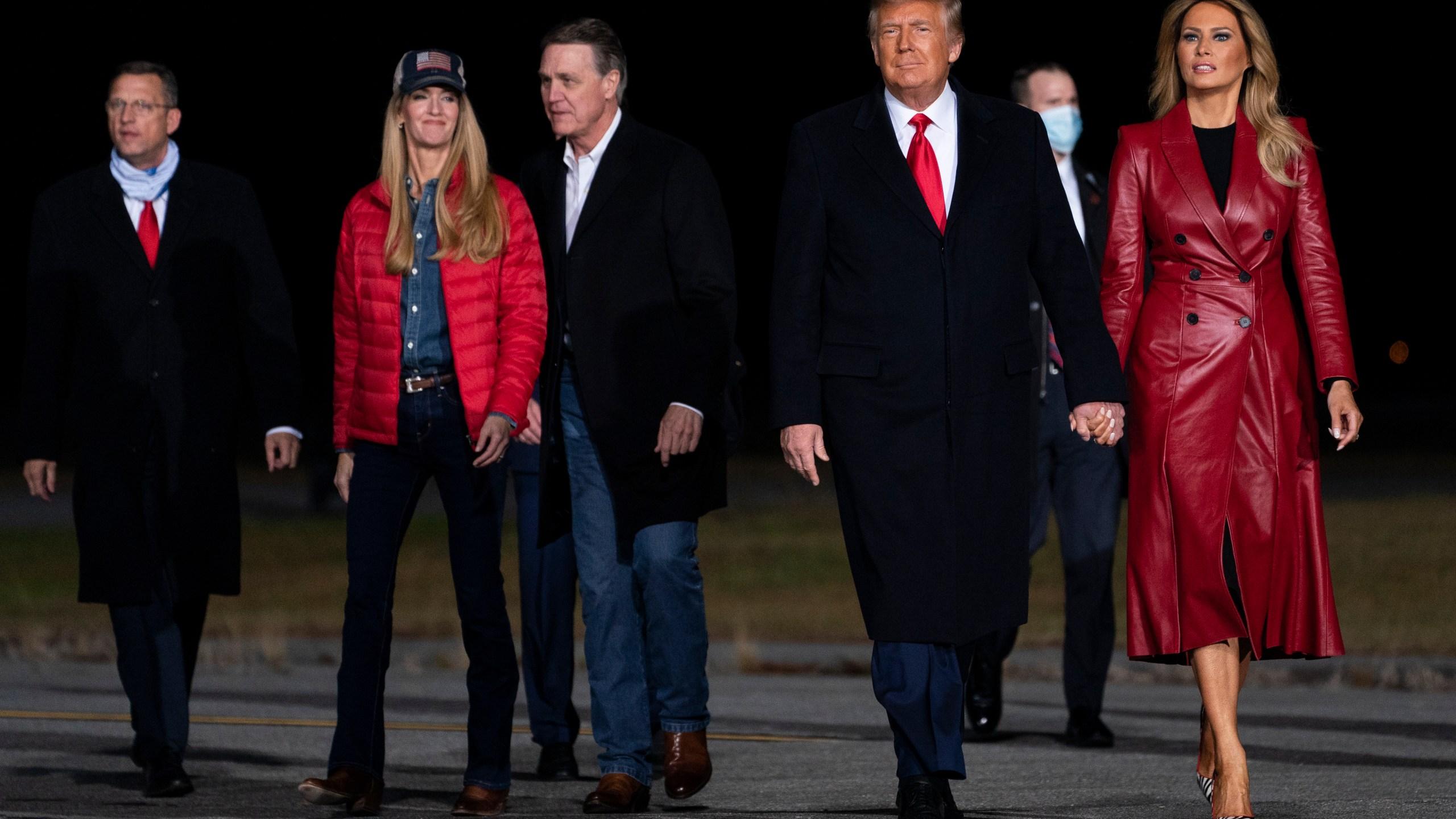 Donald Trump, Melania Trump, Kelly Loeffler, David Perdue