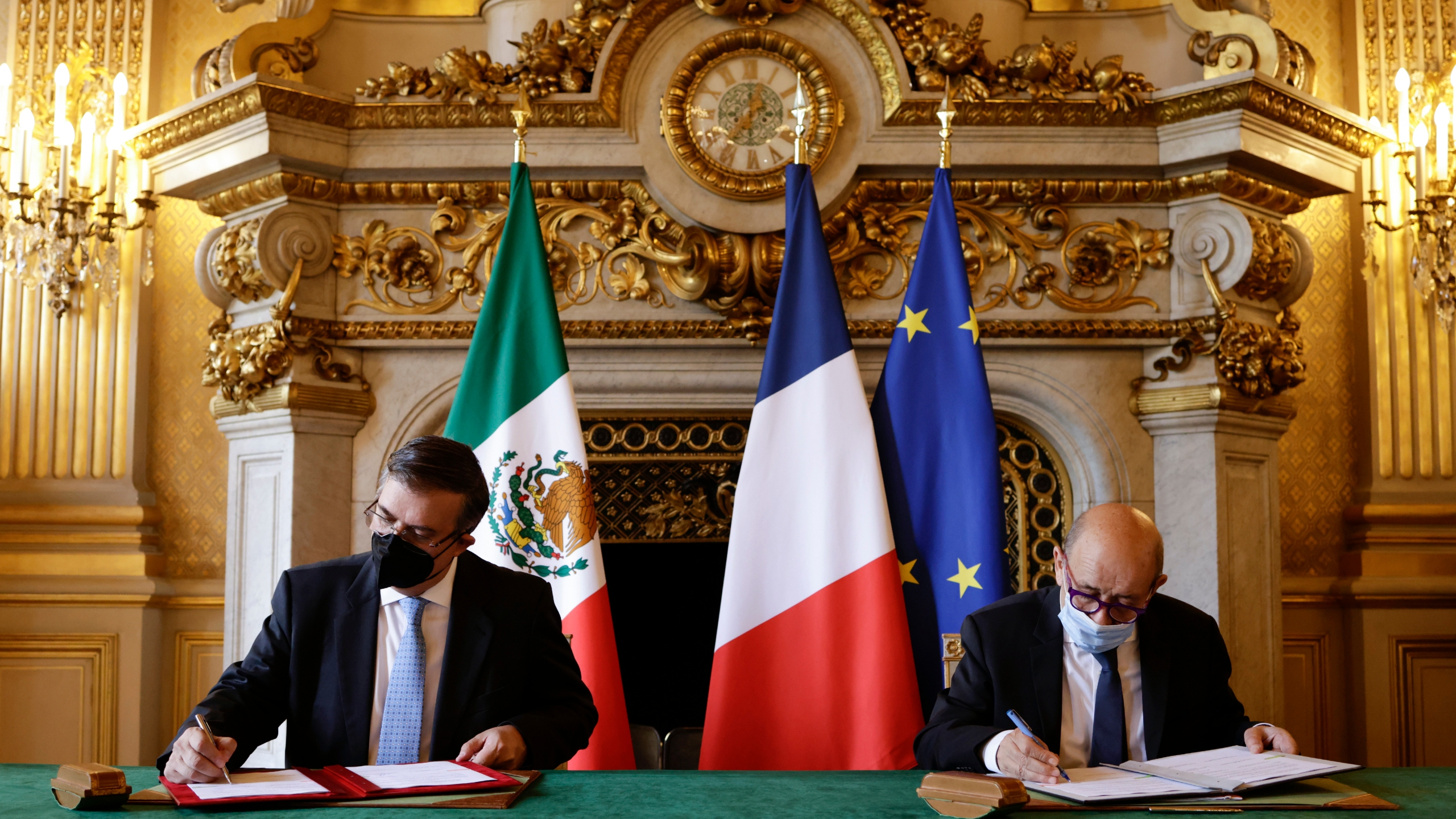 Mexican Foreign Minister Marcelo Ebrard in Paris